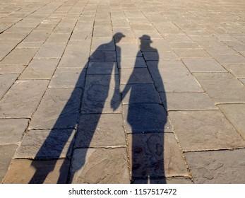Shadows Couple Man Woman Holding Hands Stock Photo (Edit Now ... 5d50b5a86d
