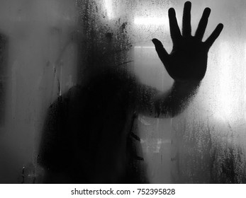 shadow of woman's hand in silhouette concept