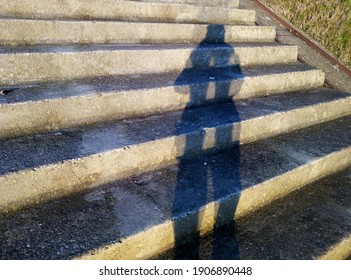 Shadowns on the stairs with sunlight
