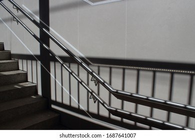 shadows and geometric lines of stairs going up