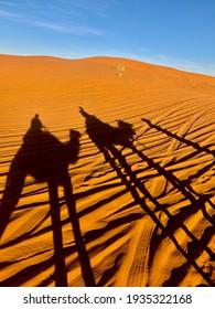 Shadows of sahara, Erg Chebi Merzouga - Marocco.