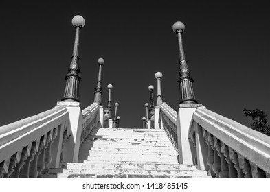 Shadows in stairs, historical city Piranhas, Alagoas, Brasil