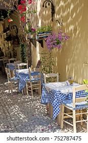 Shady Retreat in Greek Taverna
