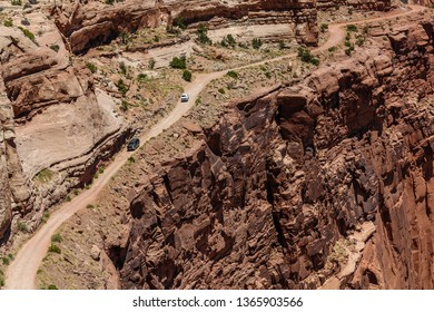 Shafer Trail Overlook in Canyonlands National Park in Utah, United States