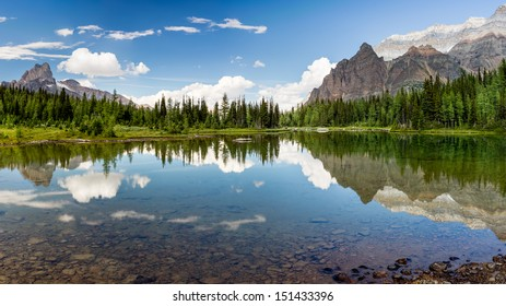 Shaffer Lake Panorama, Yoho National Park,British Columbia, Canada