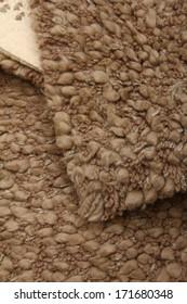 Shaggy woolen carpet of handwork