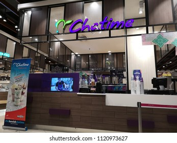 Shah Alam, Malaysia - 14 June 2018 : View of franchise CHATIME Original bubble drink shop inside shopping mall