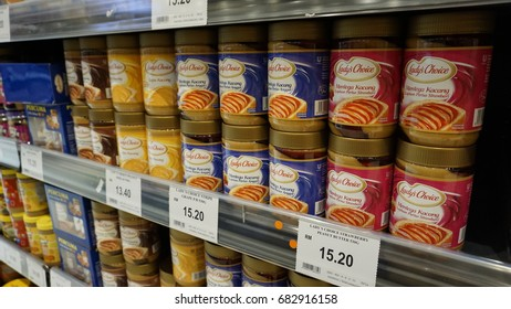 Shah Alam, Malaysia – 20 July 2017 :  Lady's Choice Peanut Spread on the shelf in the supermarket.