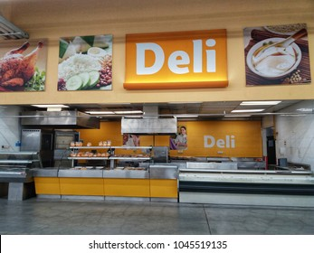 Shah Alam , Malaysia - 26 February 2018 : Empty Interior Of Deli Shop in the supermarket
