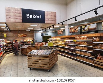Shah Alam, Malaysia - 28 November 2019 : View a BAKERY Section inside the supermarket with selective focus.