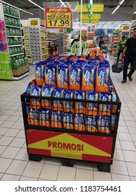 Shah Alam, Malaysia - 6 September 2018 : Assorted a HORLICKS Malted drink original display for sell in the supermarket. Mobile photoghpy.