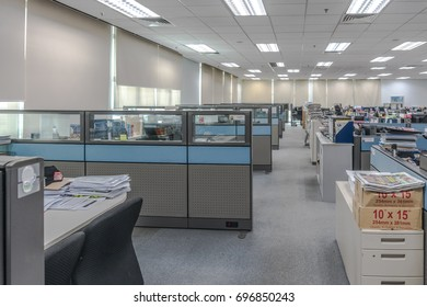 Shah Alam, Malaysia - 7 August 2017 : Workstation in unidentified company in Shah Alam, Malaysia