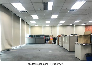 Shah Alam, Malaysia - 8 August 2018 : Unutilized space in an unidentified company in Shah Alam, Malaysia. Moving out