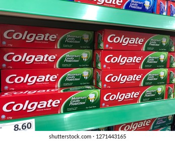 SHAH ALAM, MALAYSIA - Dec 31, 2018 : Colgate toothpaste is the market leader in the Malaysia toothpaste market with more than 50% market share in supermarkets.