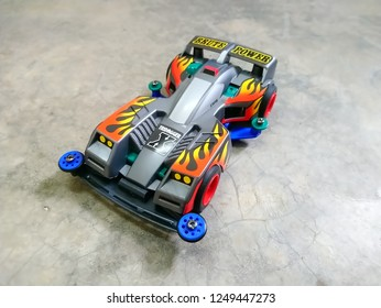 Shah Alam, Malaysia - December 2018 - Tridagger X is a Mini 4WD toy car series produced by Tamiya from Japan