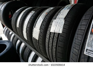 Shah Alam, Malaysia - February 10th, 2018 : The Hankook Tire group is a South Korean tire company. Based in Seoul, South Korea. The Hankook Tire is the 7th largest tire company in the world.
