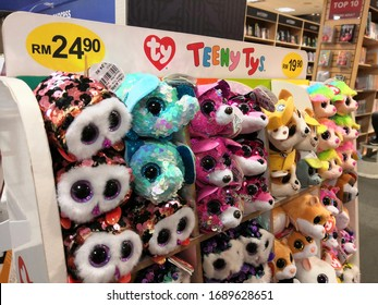 Shah Alam, Malaysia - March 2020 : Teeny Tys toys display for sale at a sporting goods Decathlon store in Shah Alam. Decathlon is one of the world's largest sporting goods retailers.