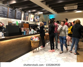 Shah Alam, Malaysia-13 January 2019 : Starbucks at Alam Central, Shah Alam. Starbucks Corporation is an American coffee company and coffeehouse chain