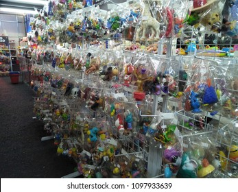 Shah Alam, Selangor , Malaysia - 24 May 2018: Row of shelves with toys in JBR Bundle shop, Shah Alam,Selangor ,Malaysia.
