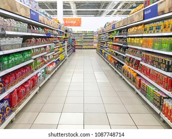 Shah Alam, Selangor, Malaysia- May 09, 2018; Various snacks that sale in a supermarket.