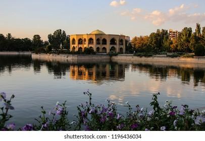 Shah Goli - the summer residence of the Qajar dynasty in El Golu park in Tabriz, East Azerbaijan province, Iran