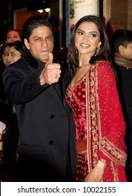 Shah Rukh Khan and Deepika Padukoneat the Bollywood Film premiere of Om Shanti Om in London