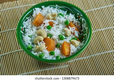 Shahi Pulav , Vegetable Pulao rich rice delicacy that goes well with paneer curries, dal makhani, kaju curry