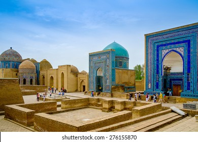 Shah-I-Zinda memorial complex, necropolis in Samarkand, Uzbekistan. UNESCO World Heritage