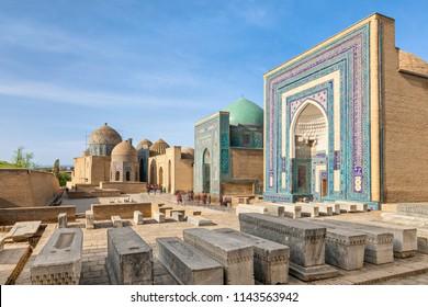 Shah-i-Zinda necropolis ensemble in Samarkand, Uzbekistan