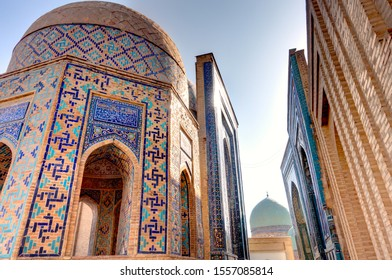 Shah-i-Zinda, Necropolis in Samarkand, HDR image