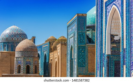 Shah-i-Zinda or Shohizinda (The Living King), a necropolis in Samarkand, Uzbekistan.