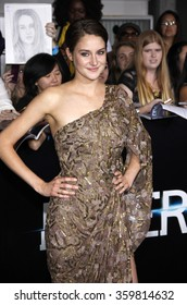 """Shailene Woodley at the Los Angeles premiere of """"Divergent"""" held at the Regency Bruin Theatre in Los Angeles, USA on March 18, 2014."""