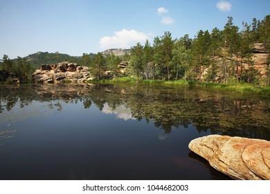 Shaitanankol â?? Lake of Devil at National Park Karkaraly near Karkaralinsk. Karaganda Oblast. Kazakhstan