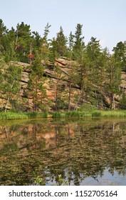 Shaitanankol – Lake of Devil at National Park Karkaraly near Karkaralinsk. Karaganda Oblast. Kazakhstan