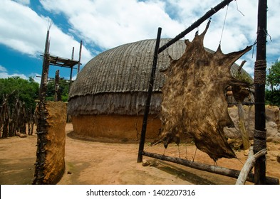 Shakaland Zulu Cultural Village, KwaZulu-Natal, South Africa - December 2016: traditional Zulu tannery