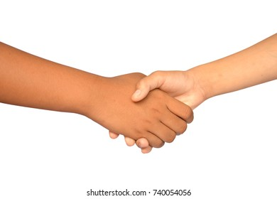 Shake hands on a white background