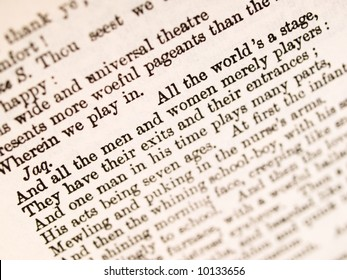 "Shakespeare ""All the world 's a stage"" quotation from 'As You Like It'"