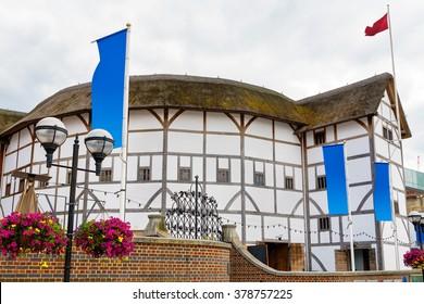 The Shakespeare Globe Theatre in London. England, UK