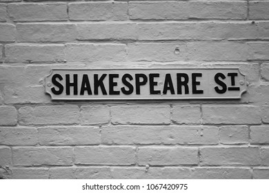 Shakespeare Street sign pointing the right direction for English literature for teachers and lecturers