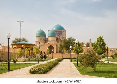 Shakhrisabz, Uzbekistan. Ancient complex Dorut Tilavat XIV-XV century and new park