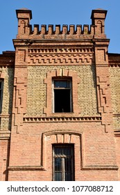 Shaki, Azerbaijan - August 13, 2017. Detail of facade of Shaki Crafts House in Shaki, Azerbaijan.