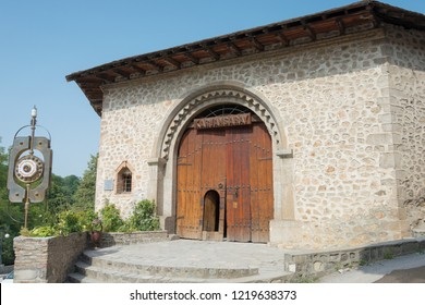 Shaki, Azerbaijan - Jul 27 2018: Caravanserai Shaki. a famous historic site on the Silk Road, Shaki, Azerbaijan.