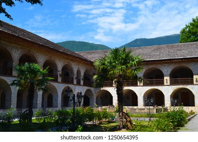 Shaki is a nice place to take a break for Caravanserai passengers in the middle ages on the historical caravanserai and the silk road. Caravanserai Shaki, Azerbaijan. 8 September 2018