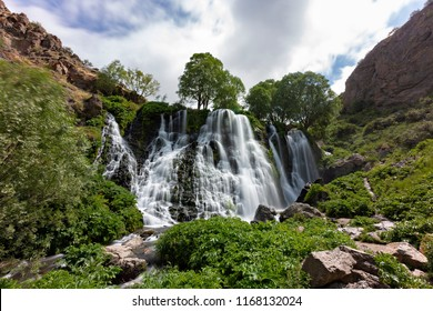 Shaki waterfall near the city of Goris, Armenia.
