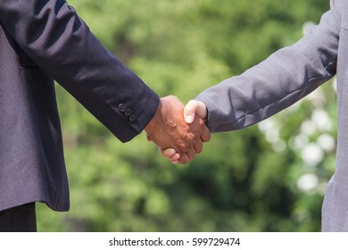 shaking hand for business partnership concept