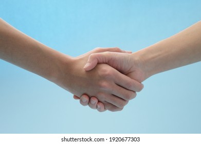 Shaking hands after the contract is concluded