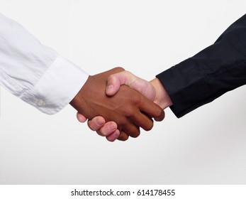 Shaking hands close