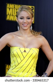 Shakira at the 2009 American Music Awards at Nokia Theatre L.A. Live in Los Angeles, USA on November 22, 2009.
