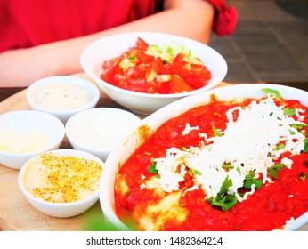 Shakshouka is a traditional Israeli dish