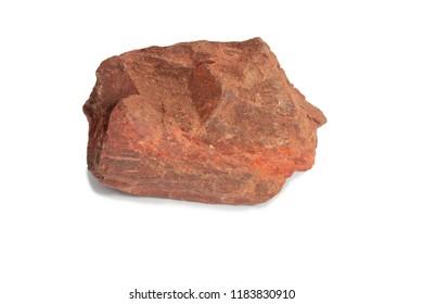 shale stone isolate on white background